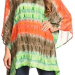 Sakkas Adalwin Desert Sun Lightweight Circle Ponch Tunic Top Blouse W / Embroidery