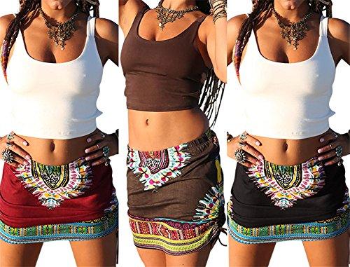 brown boho skirt