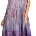 Sakkas Samira Color Block Printed Sheer Cap Sleeve Relaxed Fit Dress | Cover Up
