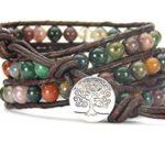 Tree of Life Bracelet Fancy Jasper Beaded Wrap