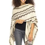 Back From Bali Womens Knit Ruana Blanket Scarf Wrap Shawl Poncho Boho Tribal Print