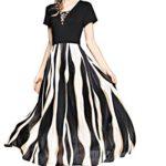Joy EnvyLand Women BOHO Office Work Striped Casual Summer Beach Maxi Dress