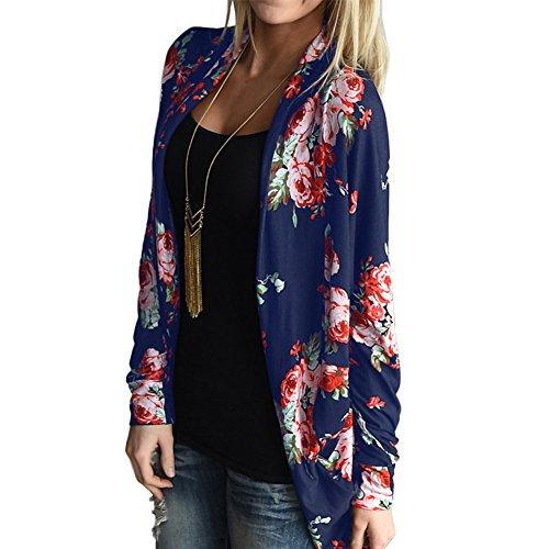 YUMDO Women's Boho Irregular Long Sleeve Wrap Kimono Cardigans Casual Coverup Coat Tops Outwear