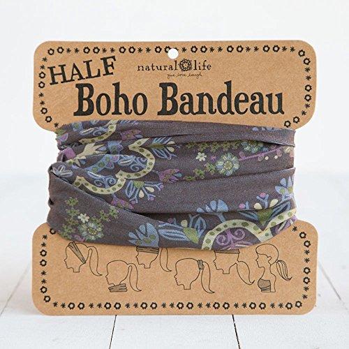 Natural Life Women's Half Boho Bandeau, Purple Mandala, One Size
