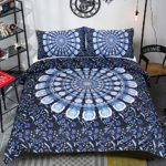 Sleepwish Blue Bohemian Duvet Cover Hippie Mandala Bedding Boho Style Bedding Set Indian Reversible Quilt Cover (Twin)