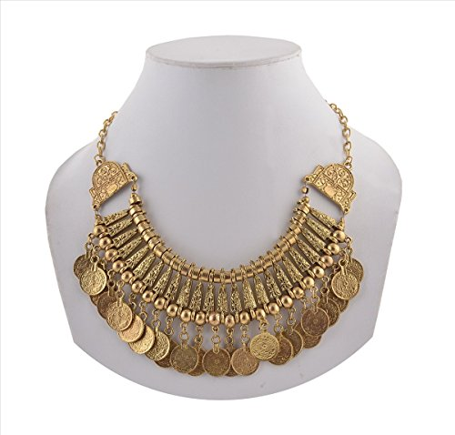 Zephyrr Fashion Coin Choker Turkish Style Necklace for Women Boho Gypsy