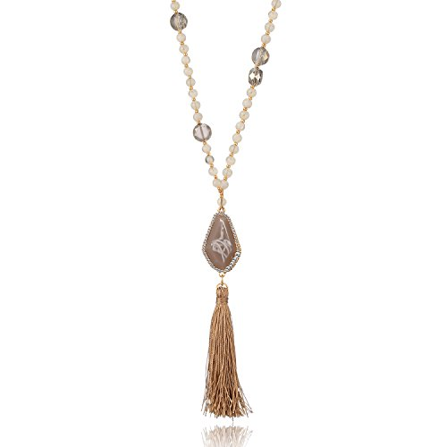 LILIE&WHITE Gold Chain Long Pendant Women Bohemian Necklace Tassel Jewelry Fringe Accessories For Ladies