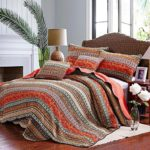 Best Striped Classical Cotton 2-Piece Patchwork Bedspread Quilt Sets Twin